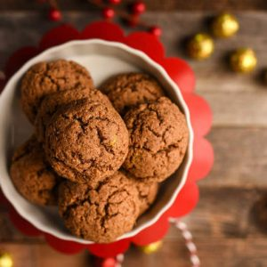 Paleo Almond Butter Ginger Cookies