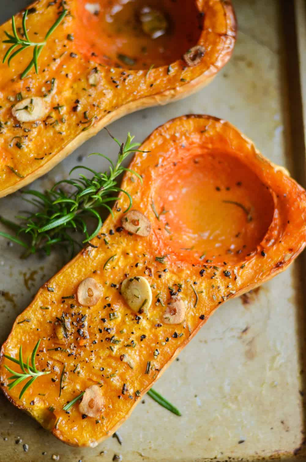 Rosemary Roasted Butternut Squash Recipe - diycandy.com