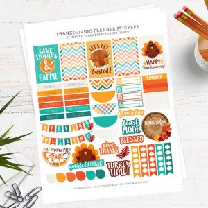 Free Thanksgiving Cute Planner Stickers