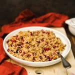 This unique (and delicious) wild rice pilaf recipe is perfect for a Thanksgiving side dish. If you love pomegranates, you'll definitely love this!
