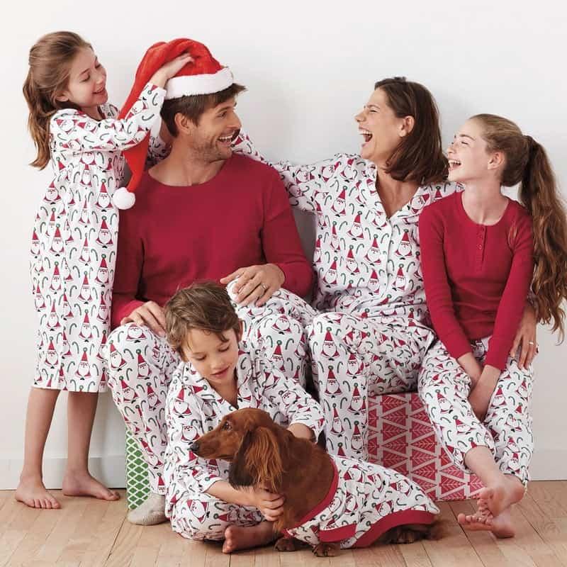 Santa Claus matching pajamas