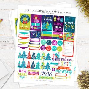 Free Christmas and New Year Planner Stickers