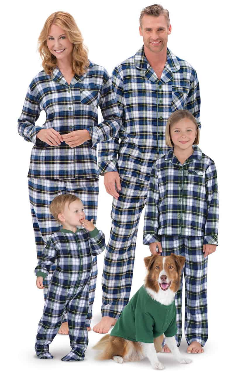 Plaid pajamas in various sizes