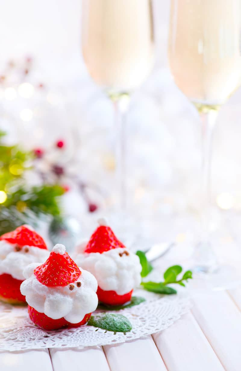 Make Mini Santa Strawberries for Christmas