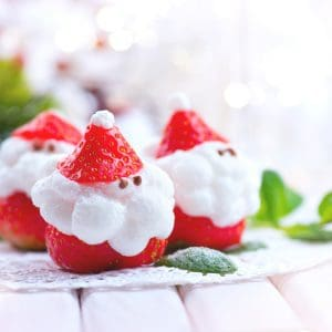 How to Make Mini Santa Strawberries