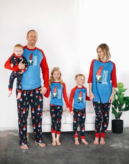 Gnome pajamas in various sizes