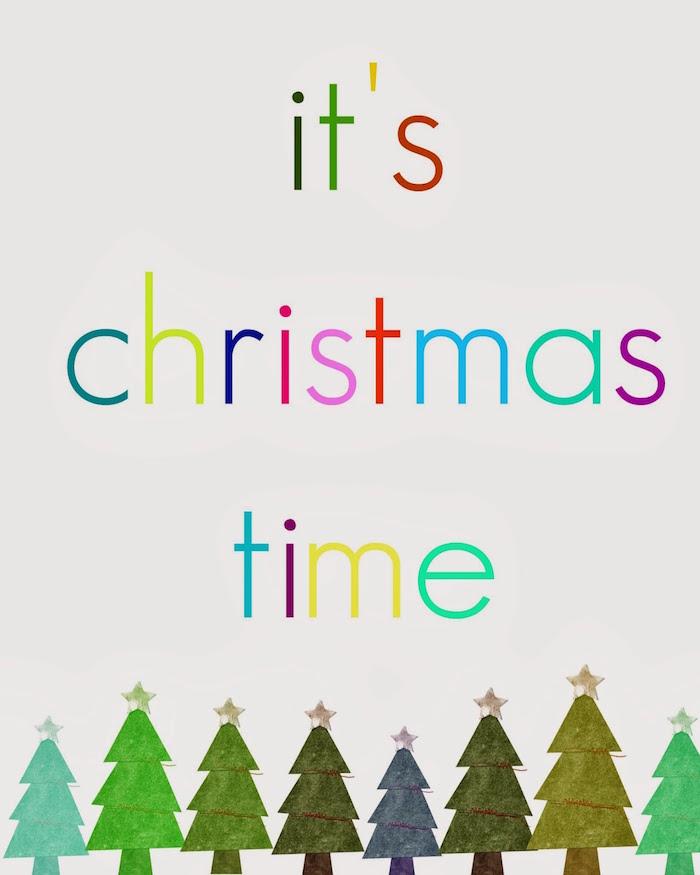 its christmas time printable