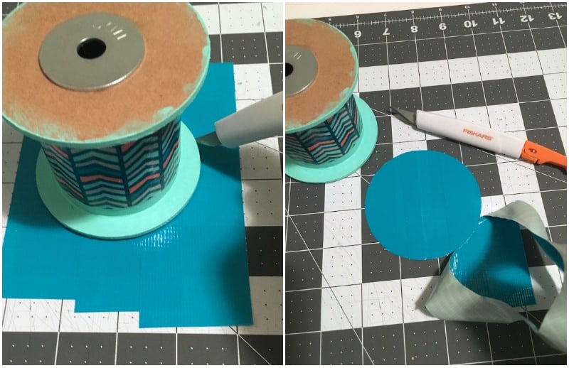 Learn how to make a DIY table lamp - out of old ribbon spools! You can use this tutorial to make a lamp out of anything. It's easy and you don't have to be an electrician.