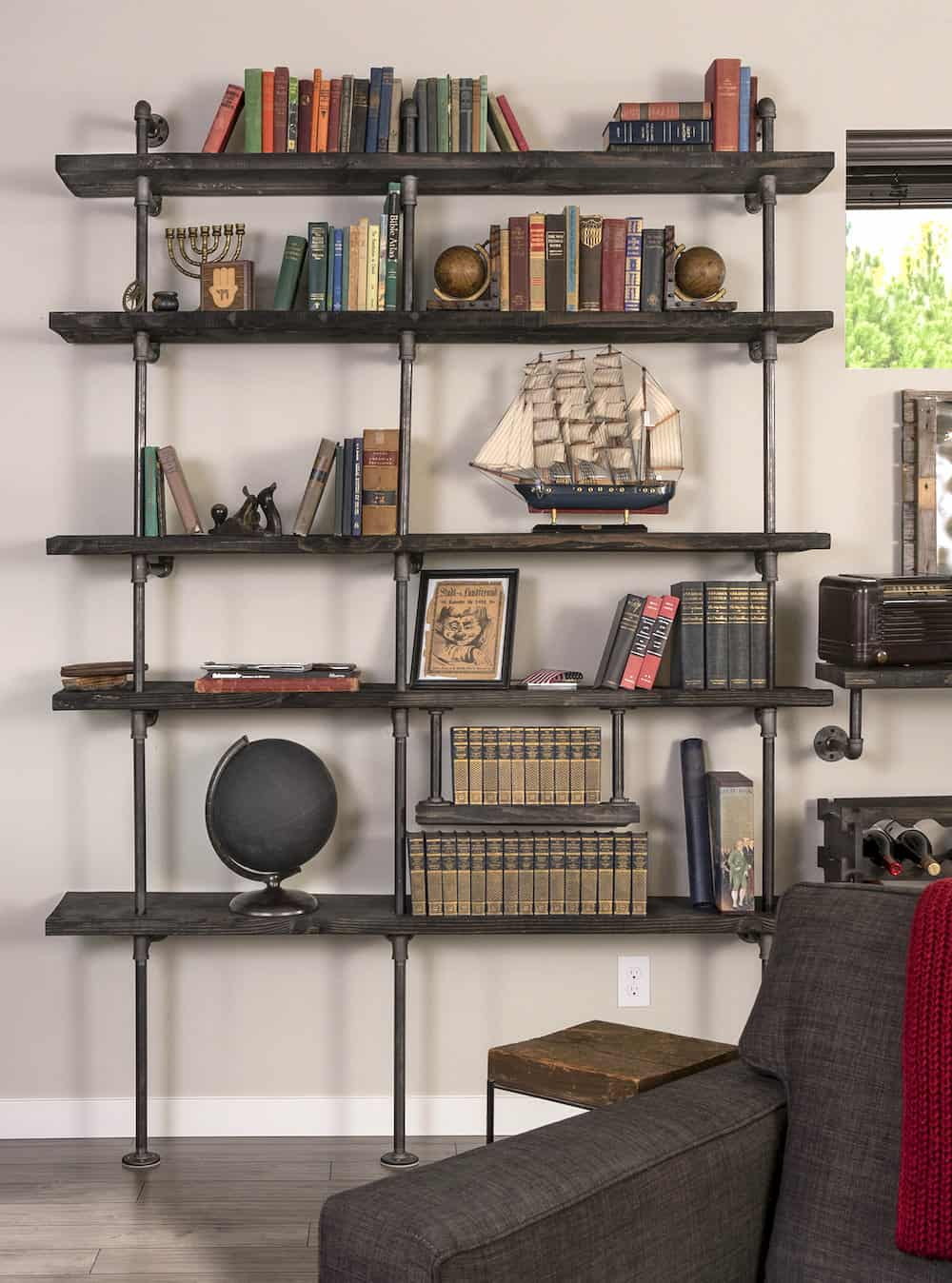 Diy Industrial Pipe Shelving On A Reasonable Budget Diy Candy