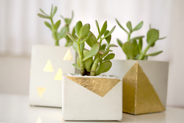 DIY Cement Centerpieces