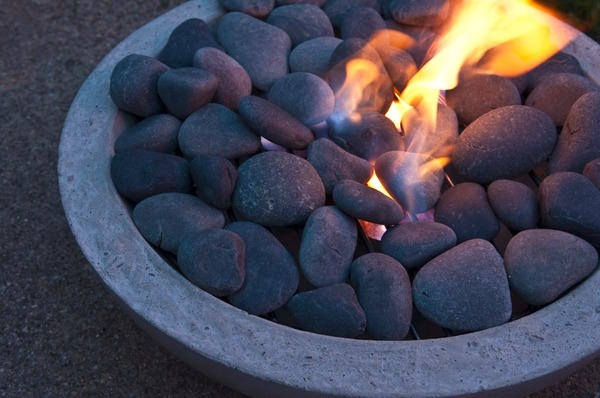 How to- make a DIY modern concrete fire pit from scratch