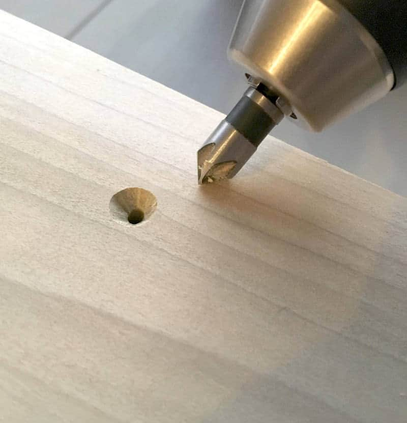 Step 10 modern platform bed countersink bit