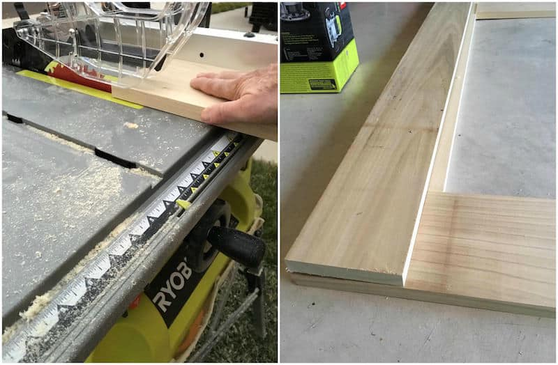 Step 3 modern DIY platform bed frame - cutting the interior frame