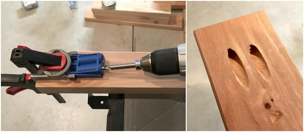 DIY coffee table step 5 - Kreg Jig