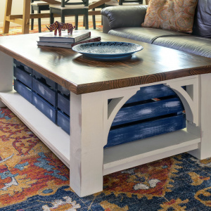 Farmhouse Style DIY Coffee Table with Storage...