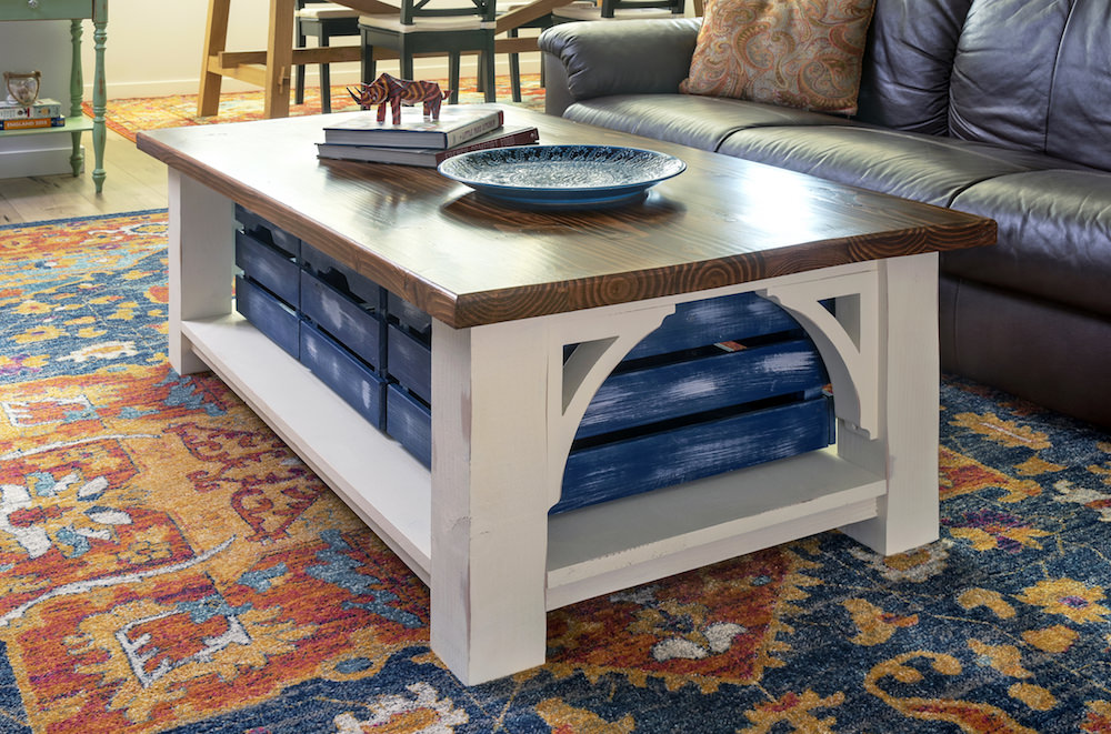 Farmhouse Style Diy Coffee Table With Storage Diy Candy