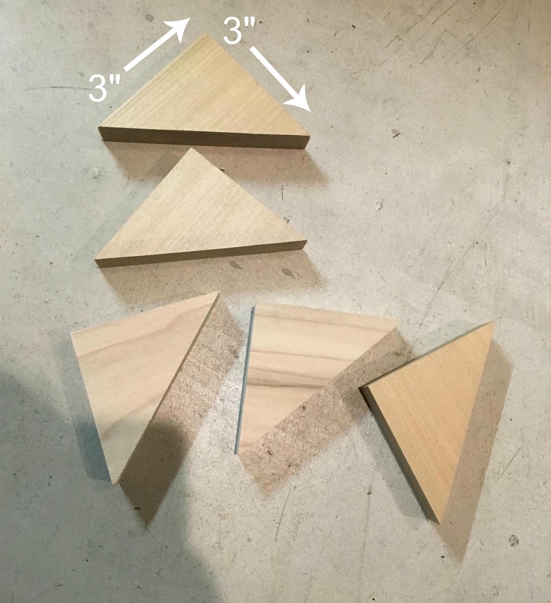 DIY headboard wood triangles