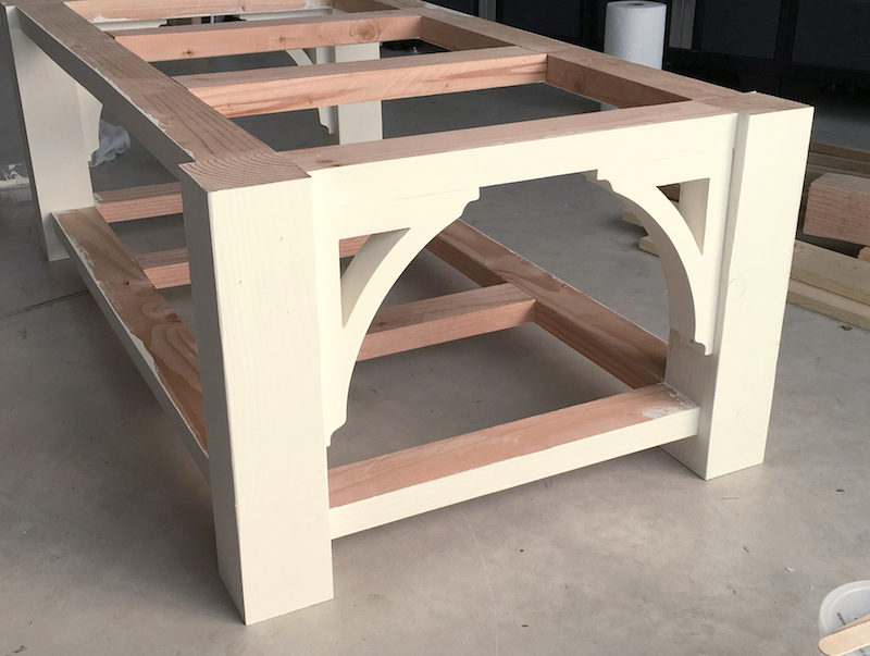 Famhouse Style Coffee Table Frame