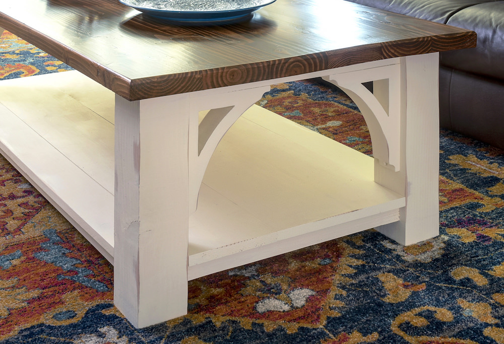 Farmhouse wood coffee table tutorial