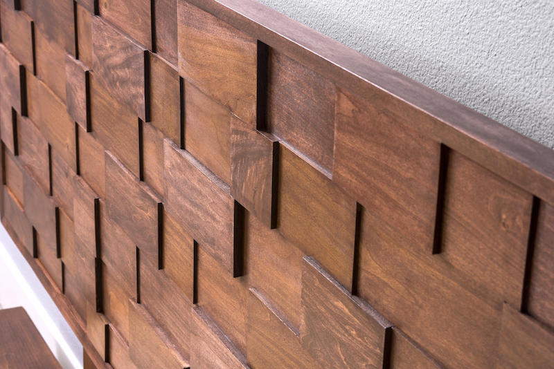 Mid Century Modern DIY Wood Headboard