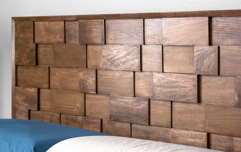 mid century modern diy wood headboard diy candy. Black Bedroom Furniture Sets. Home Design Ideas
