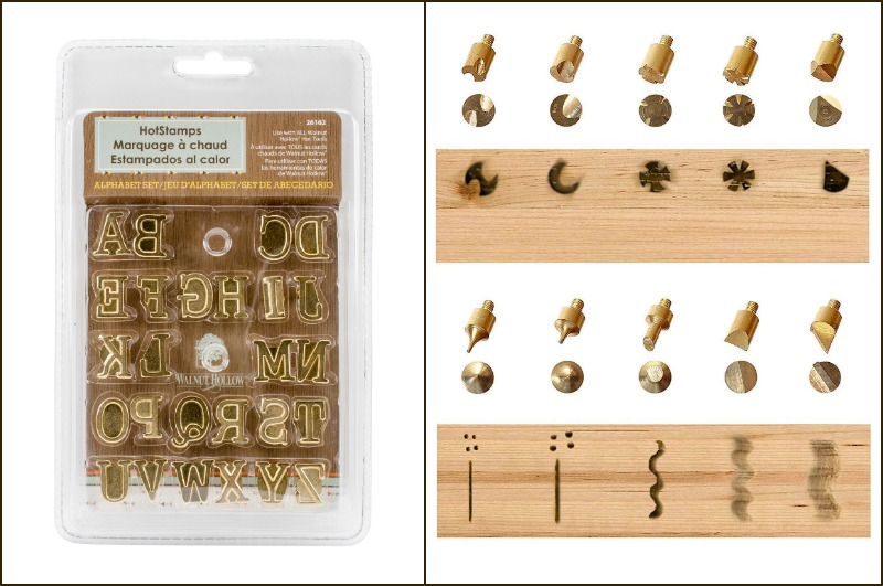 Wood burning tips and stencil kit