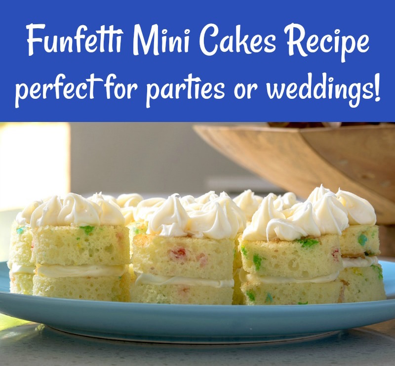 Funfetti Mini Cakes Recipe perfect for parties or weddings