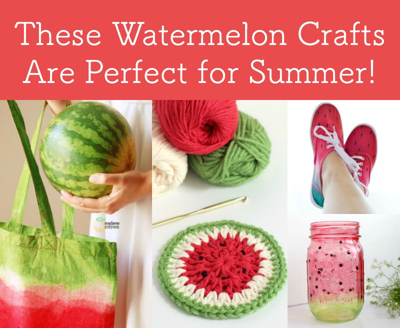These watermelon crafts are perfect for summer