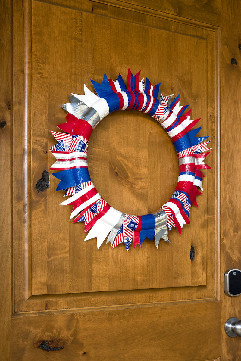 Easy Duck Tape DIY 4th of July Wreath