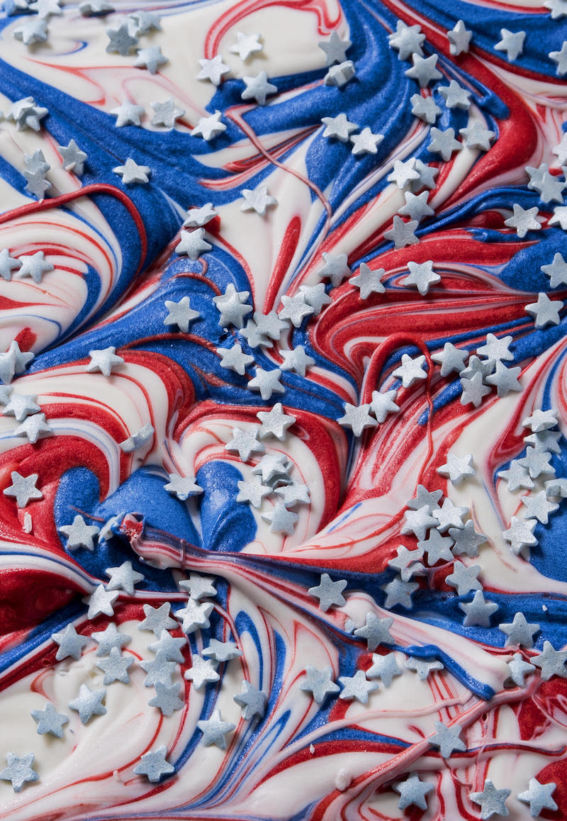 Red White and Blue Candy Bark Full