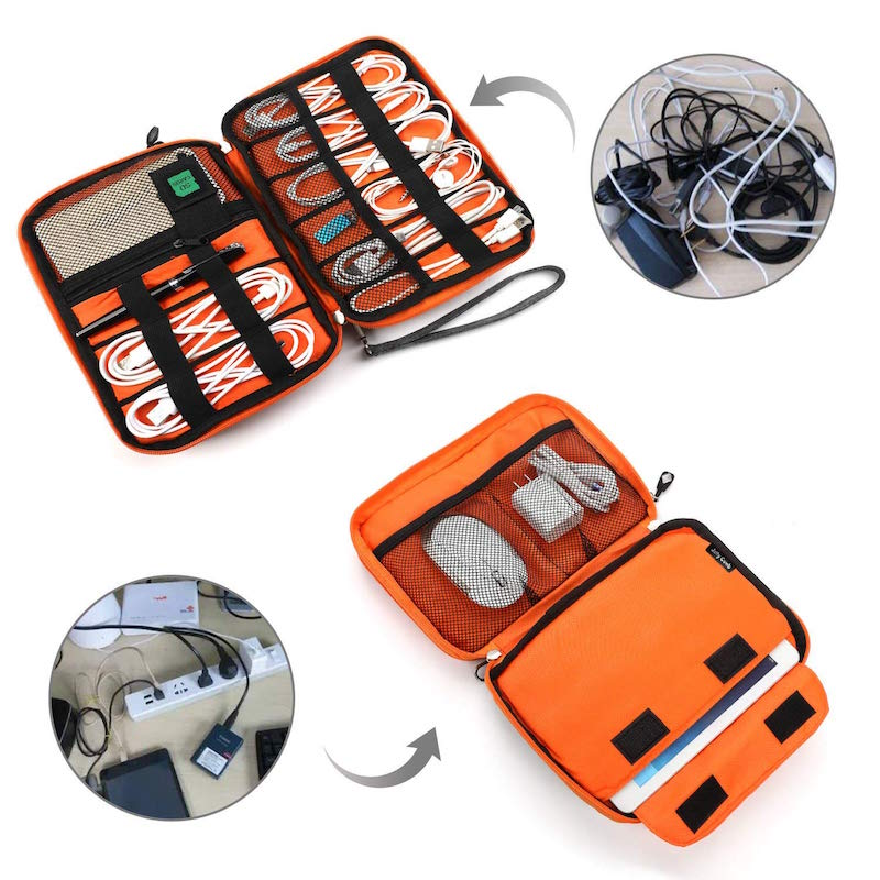 Electronic cable organizer