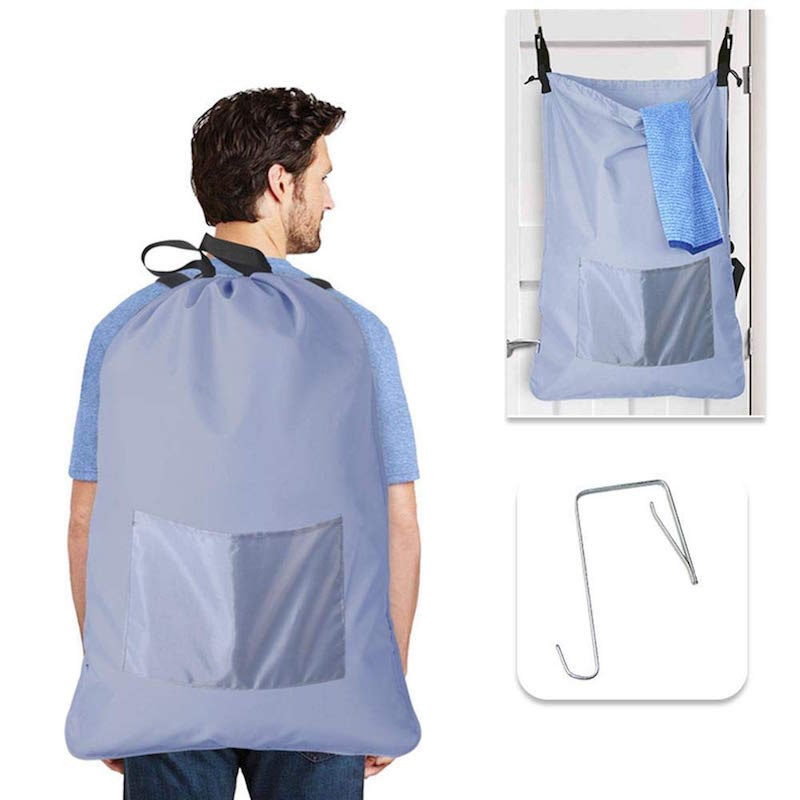 Over the door backpack laundry hamper