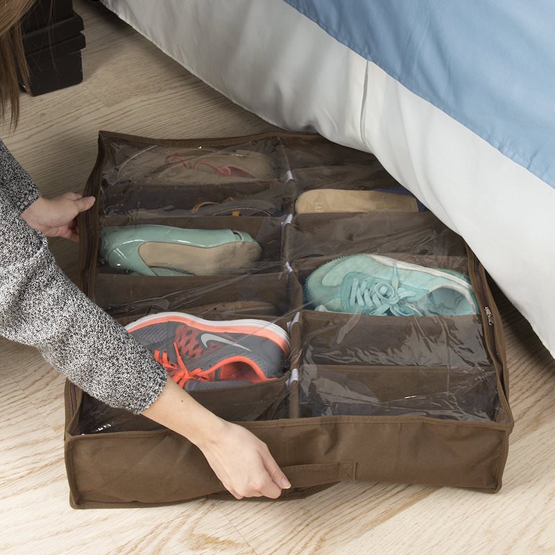 Under bed shoe organizer