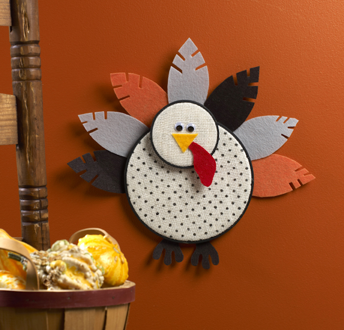 Embroidery Hoop Turkey Craft for Kids