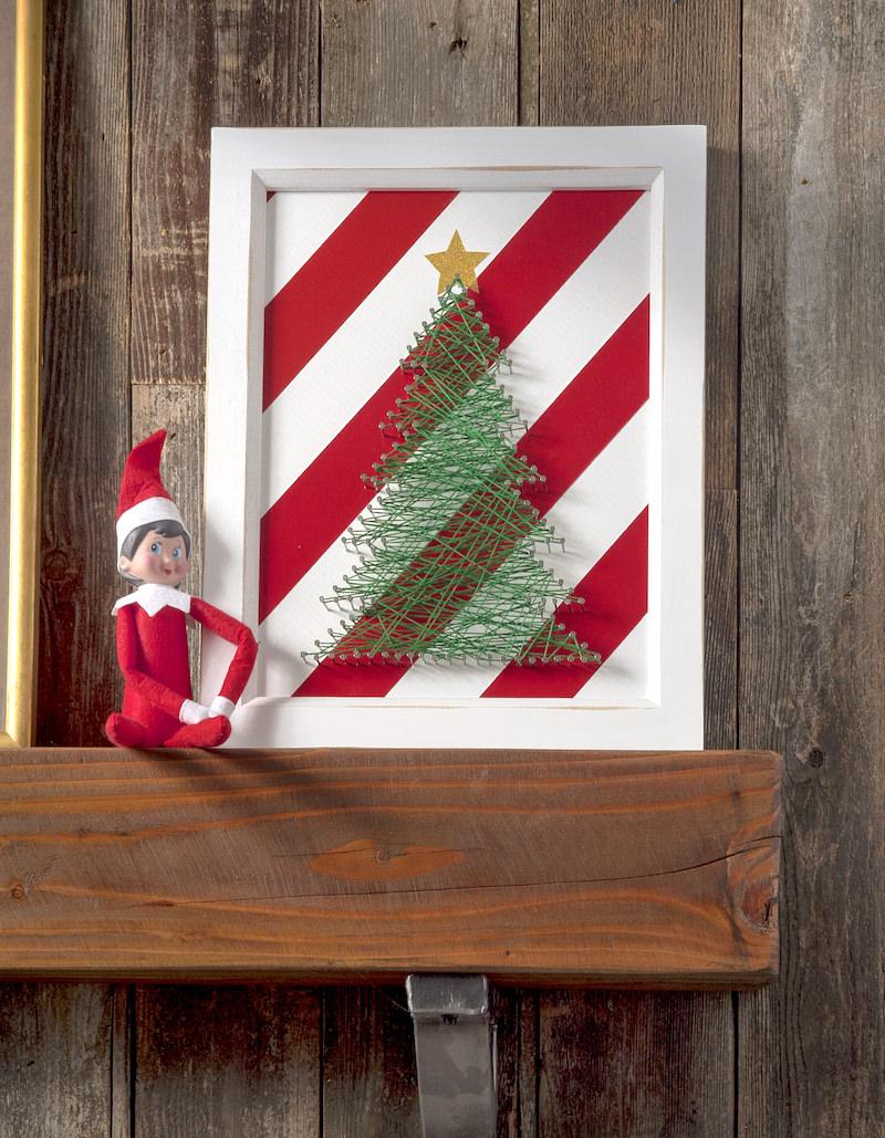 Christmas tree decor string art