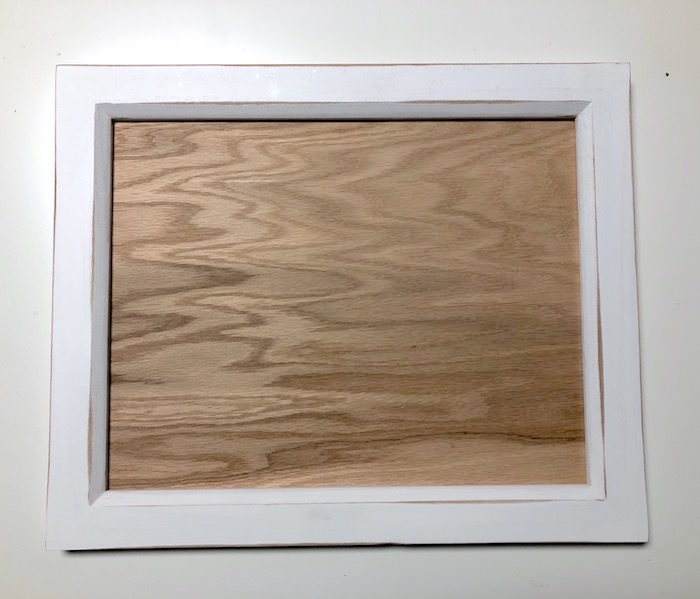 Cut wood to fit in a frame