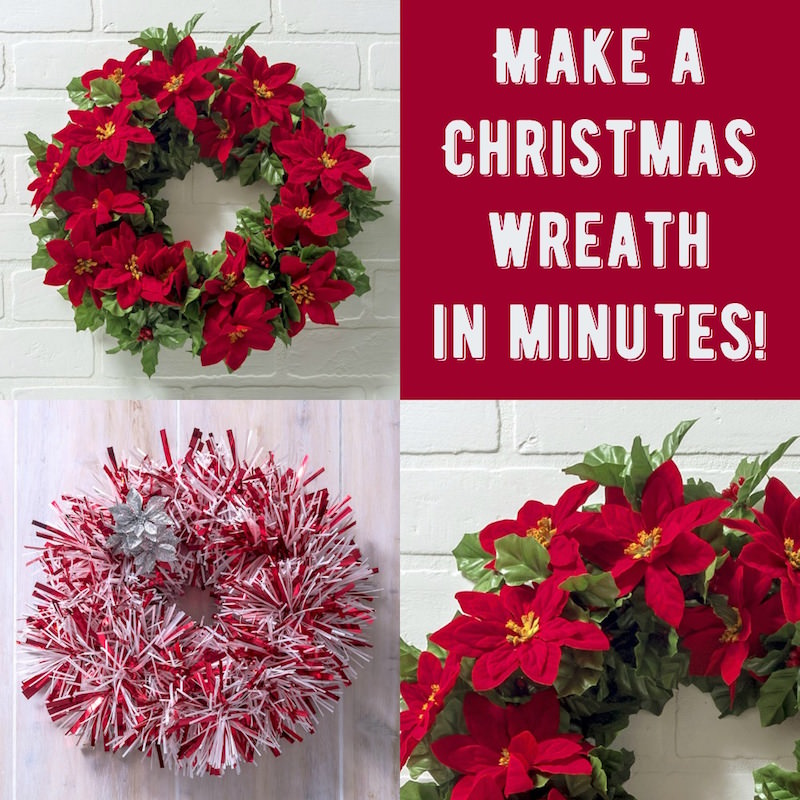 Make a Christmas door wreath in minutes