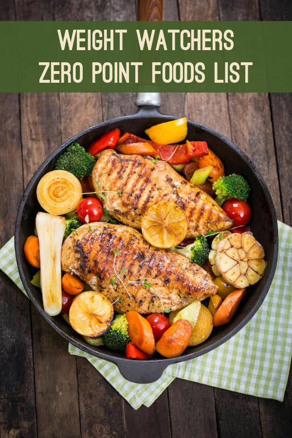 photograph relating to Weight Watchers Freestyle Food List Printable known as Fat Watchers Zero Fact Meals (Totally free Printable PDF!) - Do-it-yourself