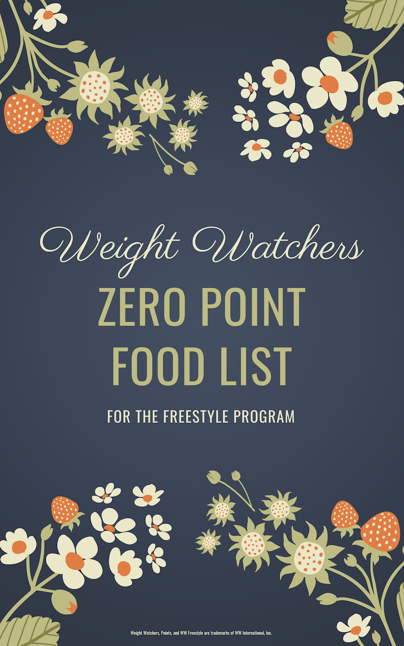 Weight Watchers Zero Point Foods Printable PDF