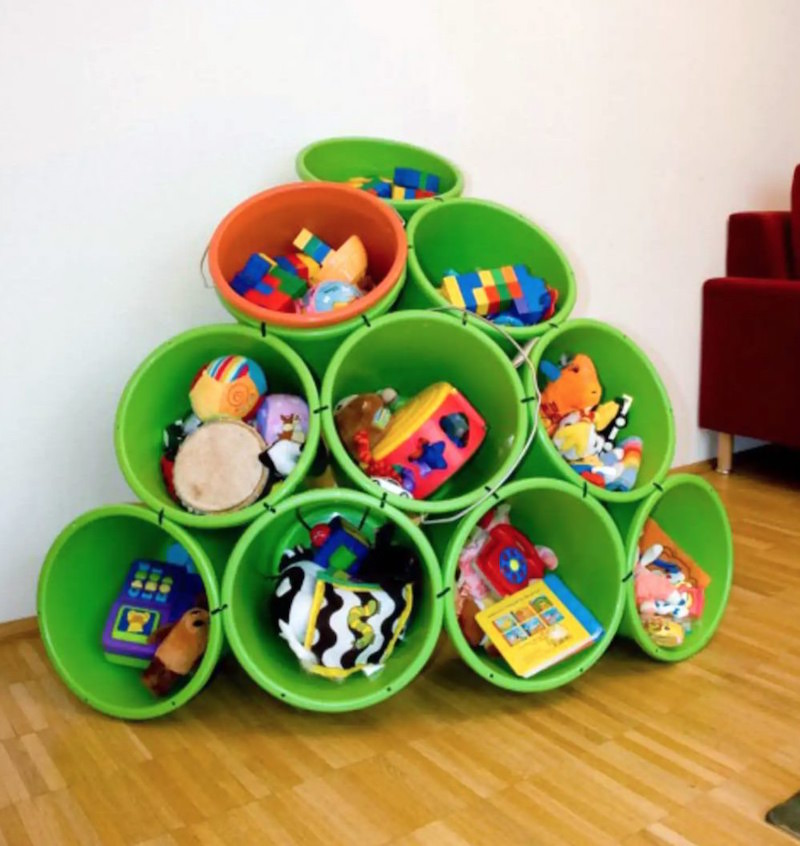 Budget Buckets Toy Storage