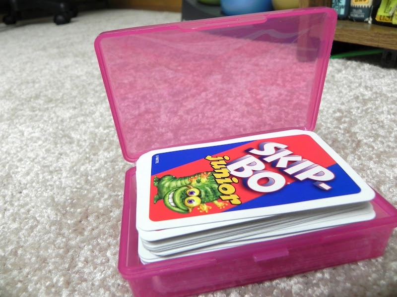 Card Storage from Plastic Containers