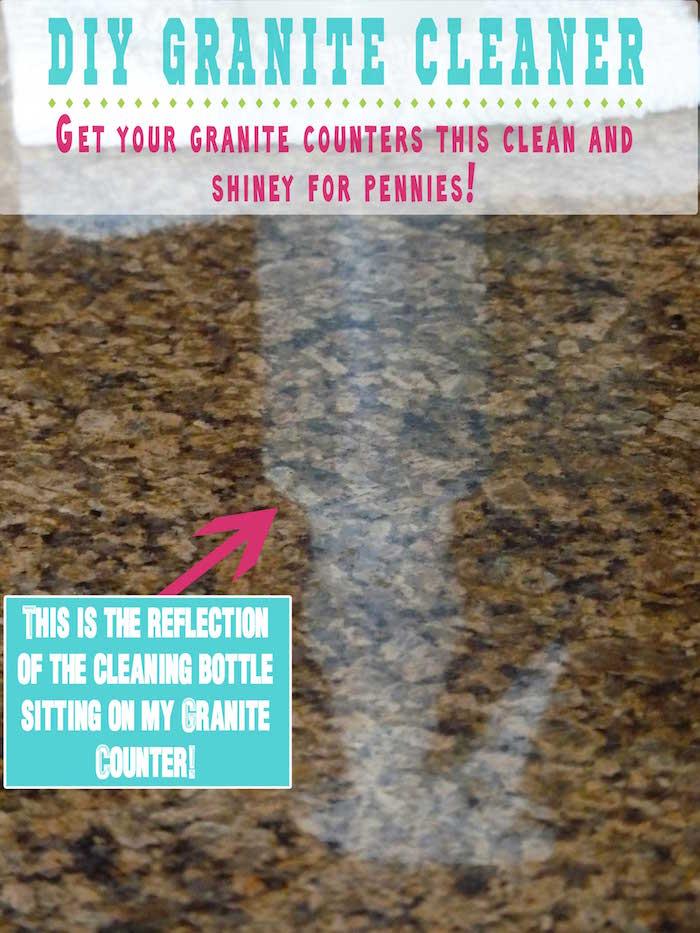 DIY granite cleaner - Sparkling Granite with Rubbing Alcohol