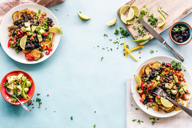 Delicious Mexican bowl with zucchini