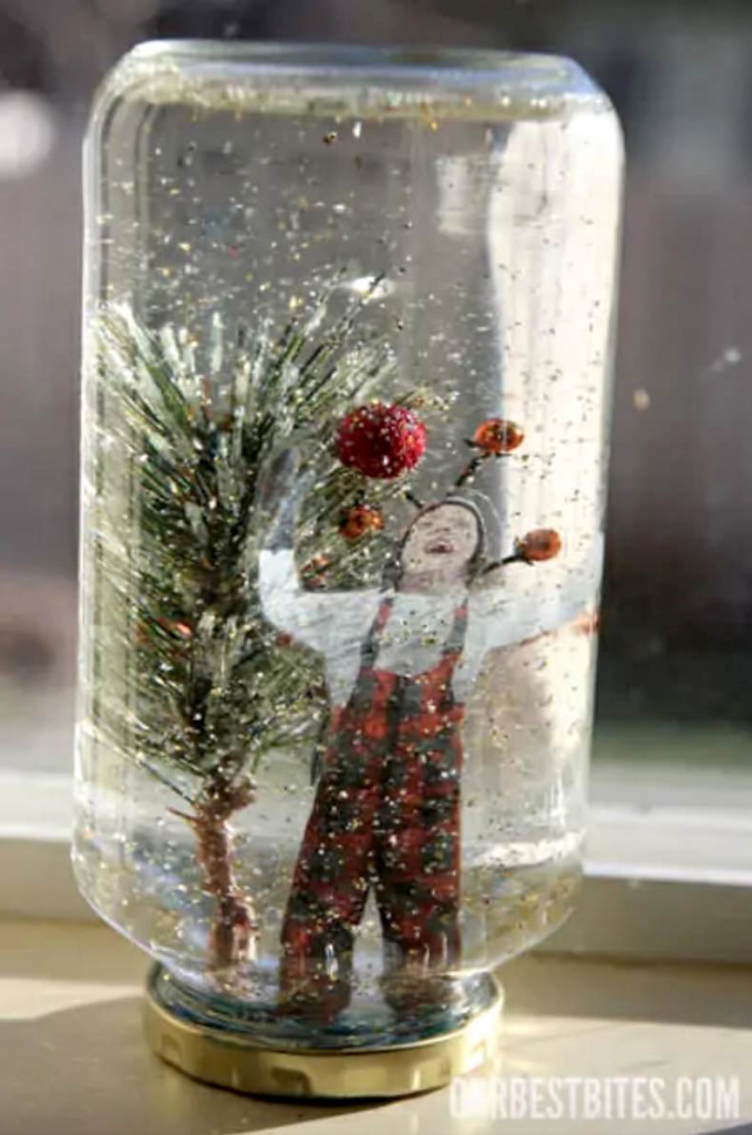 Easy homemade photo snowglobe
