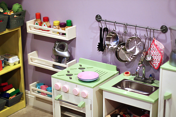 Kid Kitchen with Spice Racks
