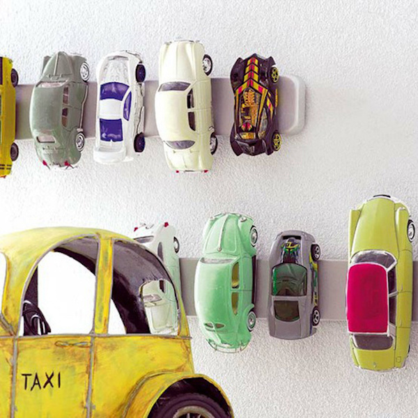 Magnetic Rack Toy Car Storage