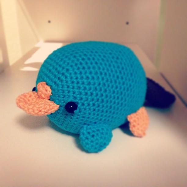 Perry platypus amigurumi pattern