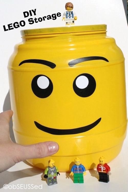 Recycled Bin LEGO Storage