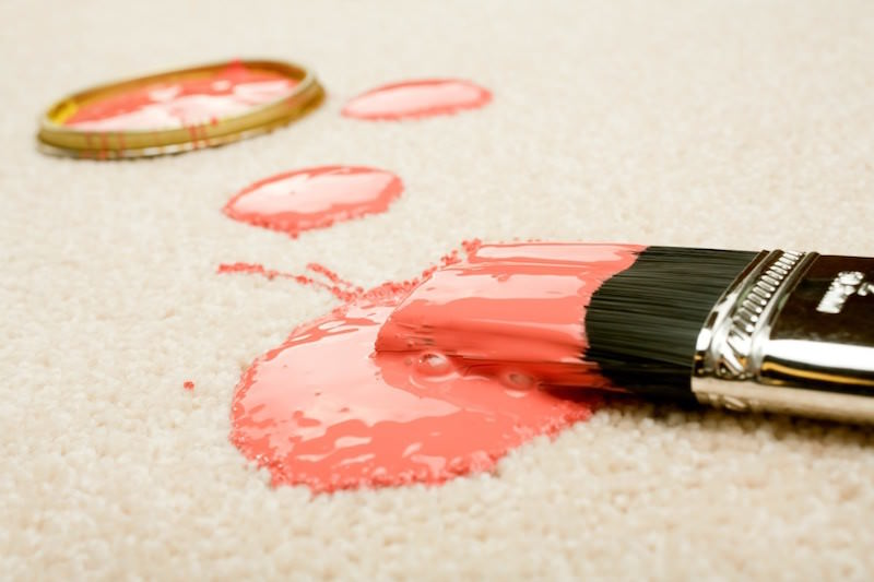 home cleaning tips - Remove Spilled Paint from Carpet