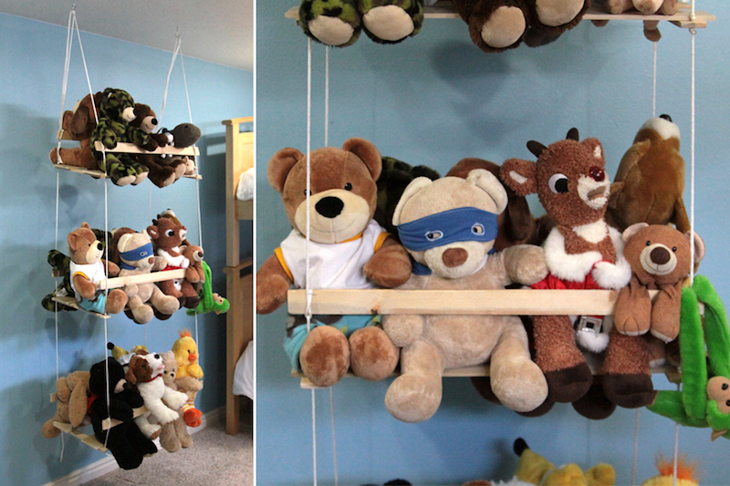 Wood Swing Hanging DIY Toy Storage